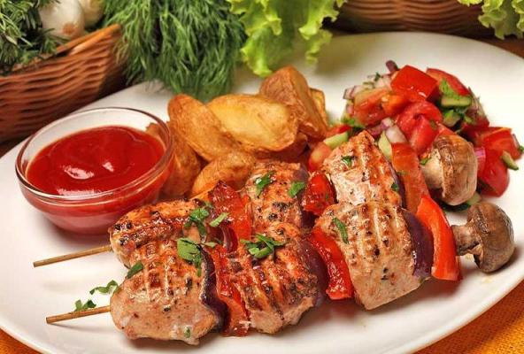 Kết quả hình ảnh cho Thịt nướng Shashlik
